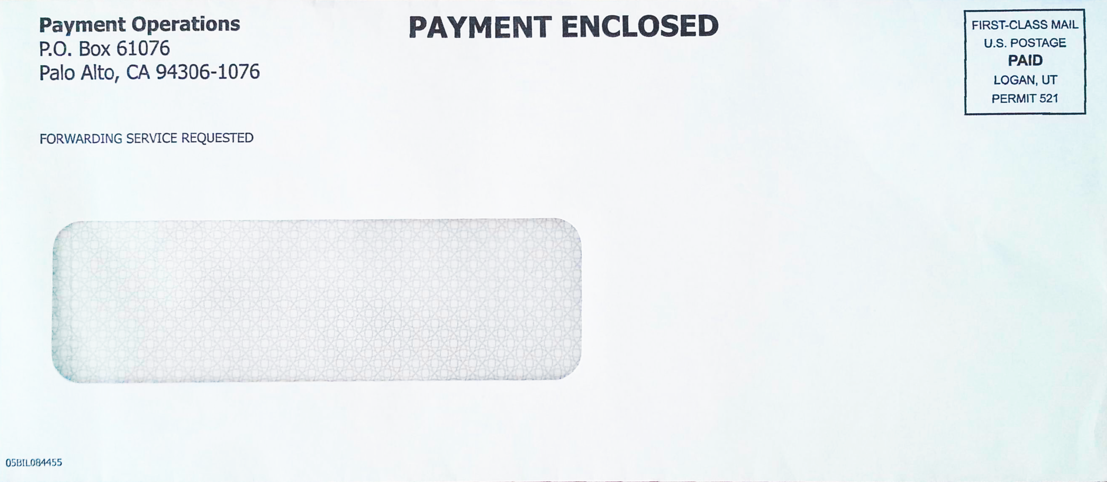 Payables - Check envelope